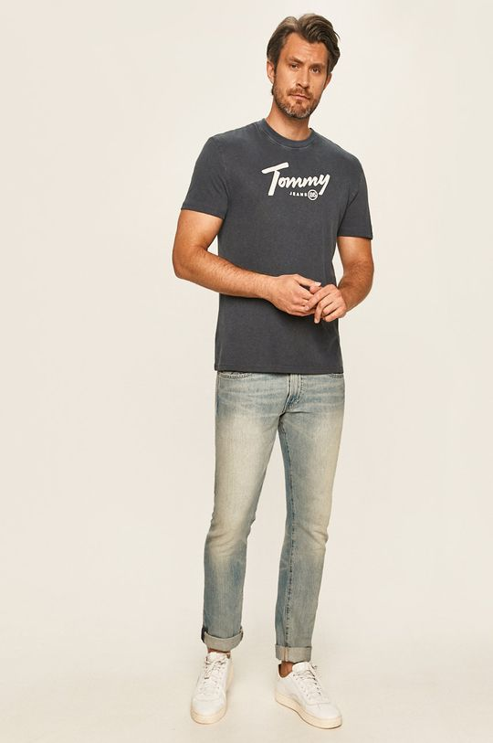 Tommy Jeans - T-shirt granatowy