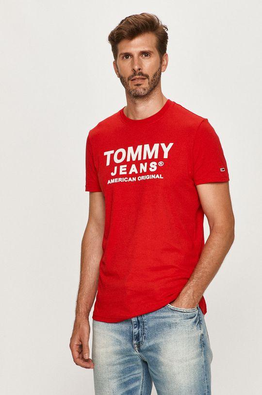 červená Tommy Jeans - Tričko Pánsky