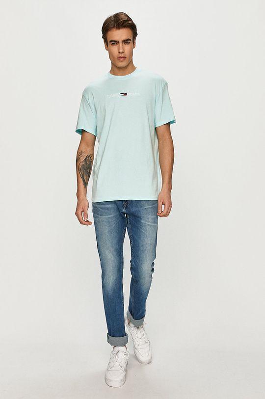 Tommy Jeans - T-shirt jasny niebieski