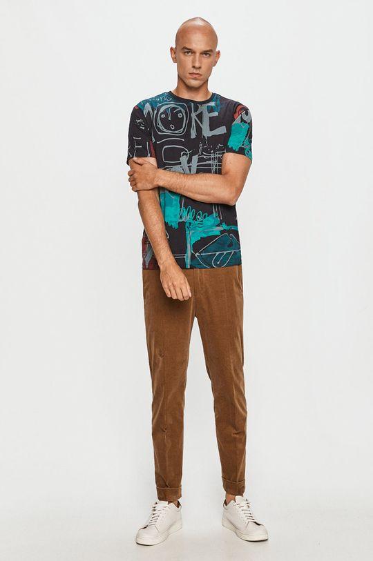 Desigual - Tričko viacfarebná