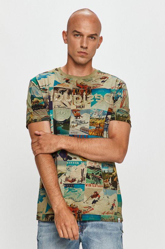 viacfarebná Desigual - Tričko Pánsky