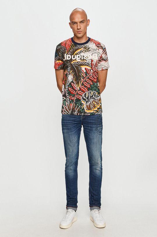 Desigual - Tricou multicolor