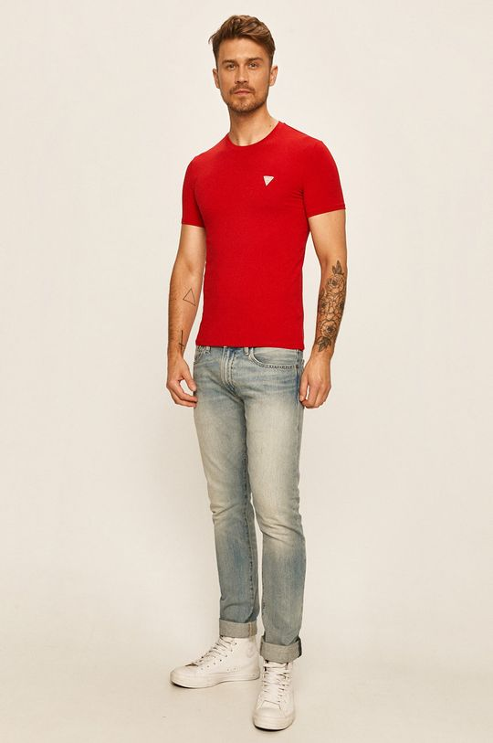Guess Jeans - Tricou rosu
