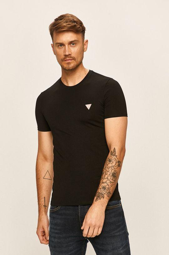 černá Guess Jeans - Tričko Pánský