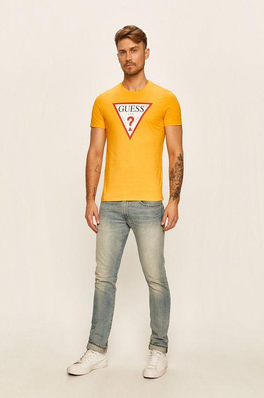 Guess Jeans - Tričko žlutá