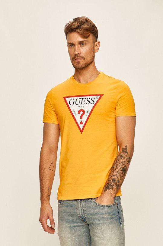 žlutá Guess Jeans - Tričko
