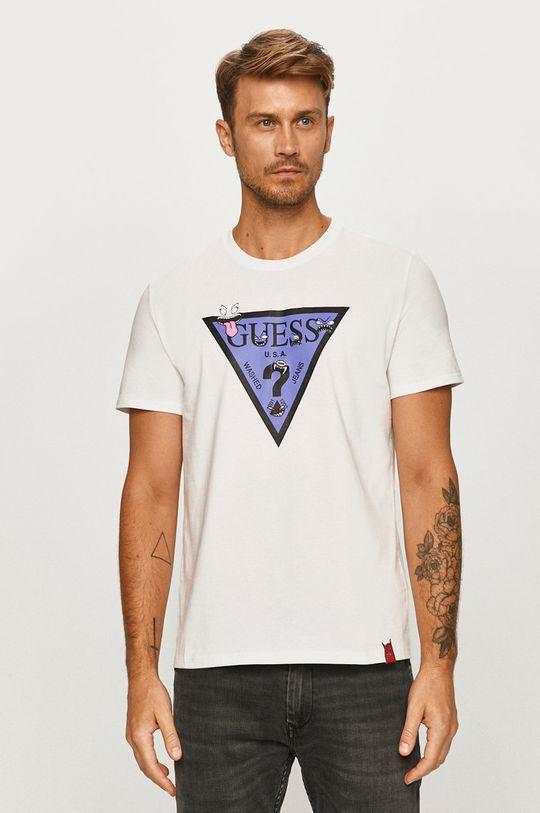 biela Guess Jeans - Tričko Pánsky