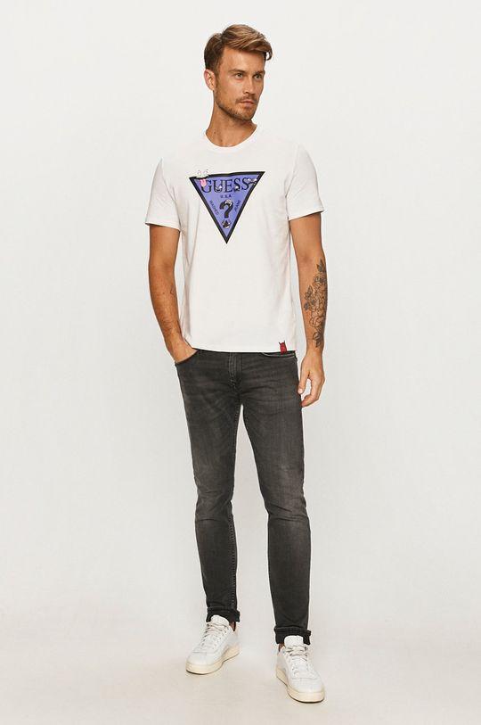 Guess Jeans - Tričko biela