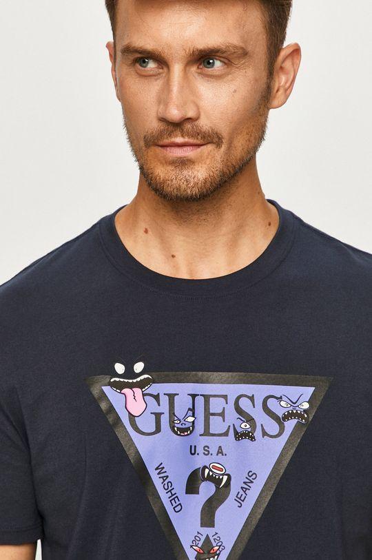 tmavomodrá Guess Jeans - Tričko