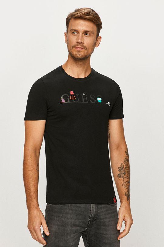 čierna Guess Jeans - Tričko Pánsky