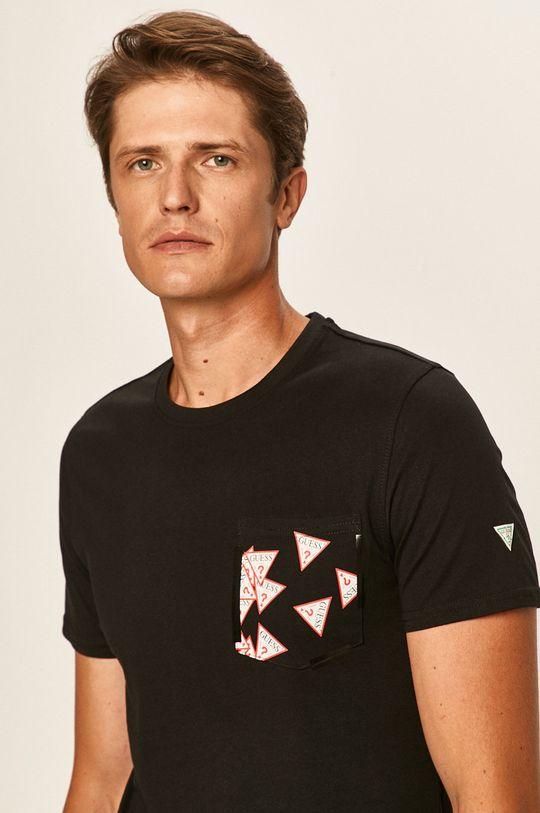 czarny Guess Jeans - T-shirt Męski