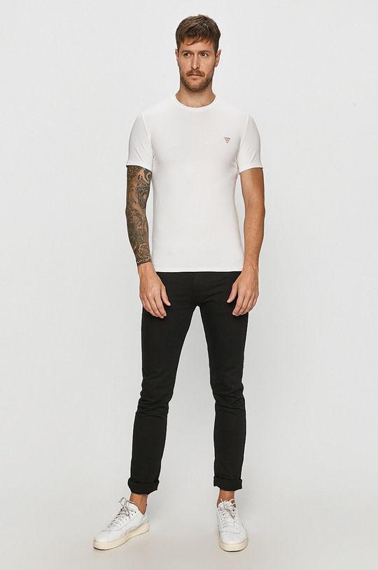 Guess Jeans - Tričko bílá