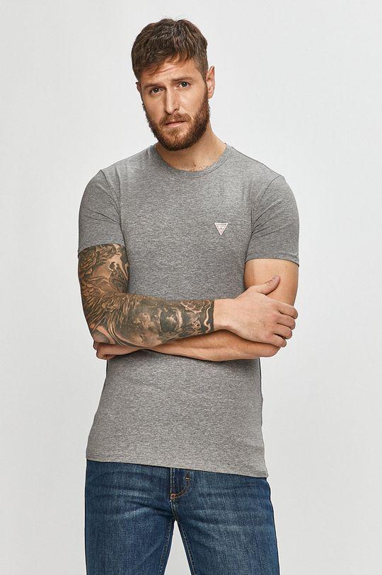 světle šedá Guess Jeans - Tričko Pánský