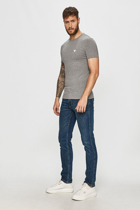 Guess Jeans - Tričko světle šedá