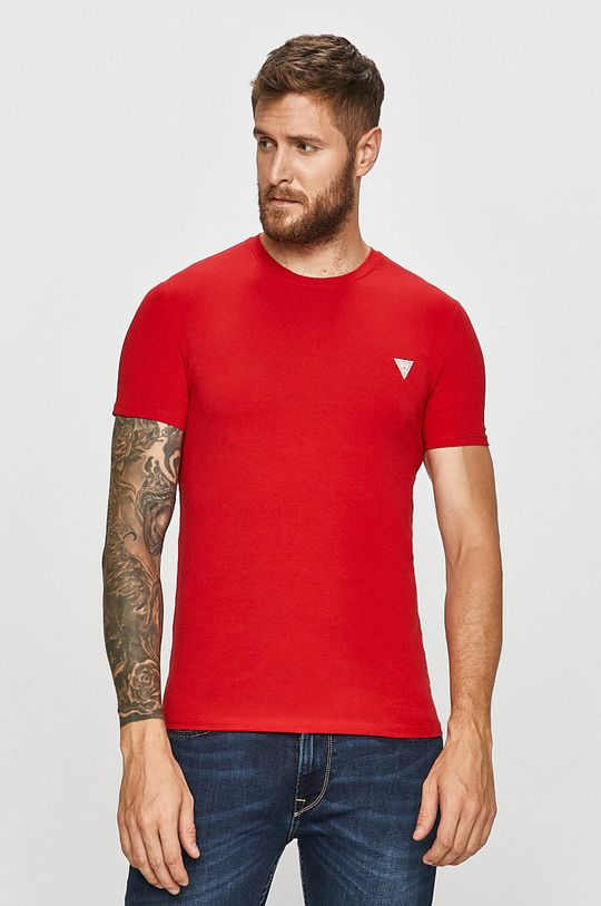 červená Guess Jeans - Tričko Pánský