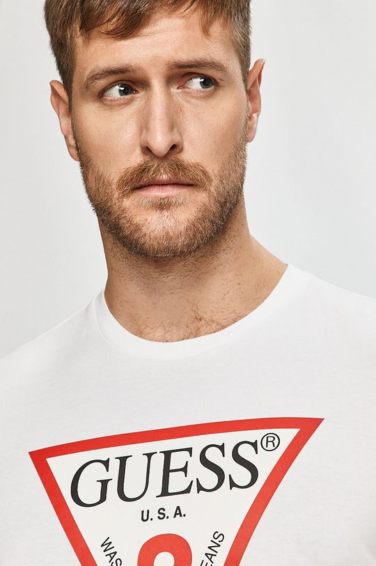 bílá Guess Jeans - Tričko