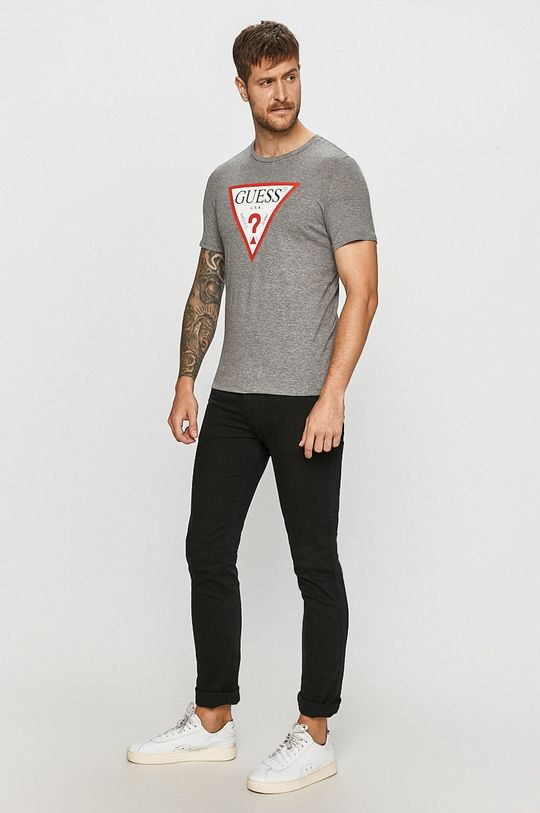 Guess Jeans - T-shirt jasny szary
