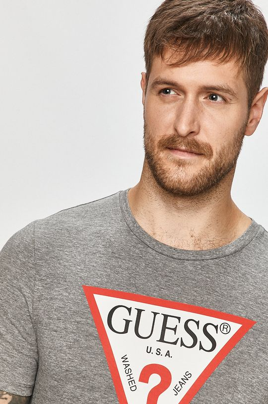 jasny szary Guess Jeans - T-shirt