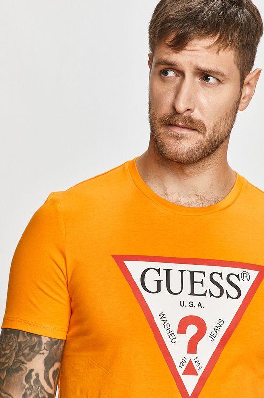pomarańczowy Guess Jeans - T-shirt Męski