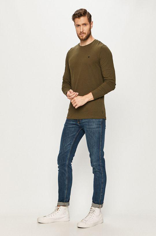 Premium by Jack&Jones - Tričko s dlhým rukávom zelená