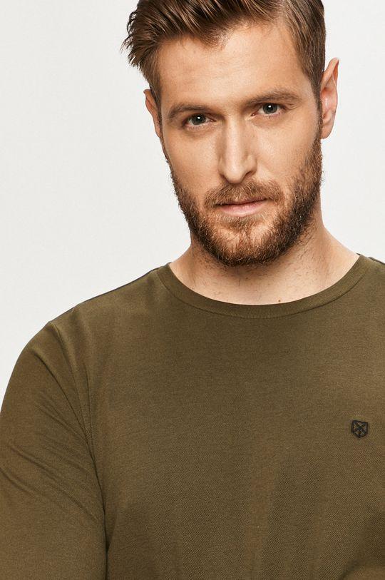 zelená Premium by Jack&Jones - Tričko s dlhým rukávom