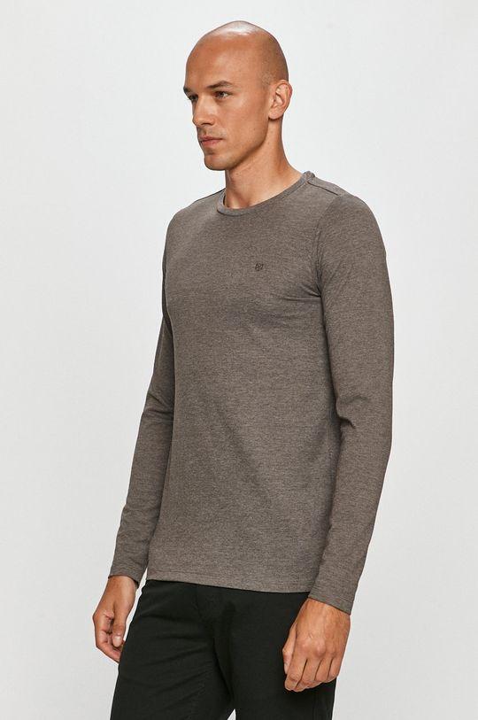 sivá Premium by Jack&Jones - Tričko s dlhým rukávom Pánsky