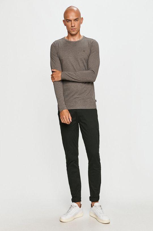 Premium by Jack&Jones - Tričko s dlhým rukávom sivá
