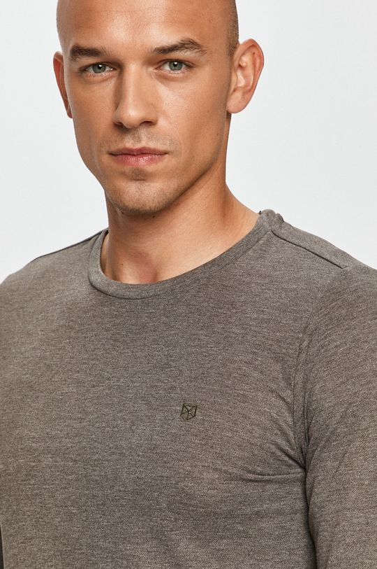 sivá Premium by Jack&Jones - Tričko s dlhým rukávom
