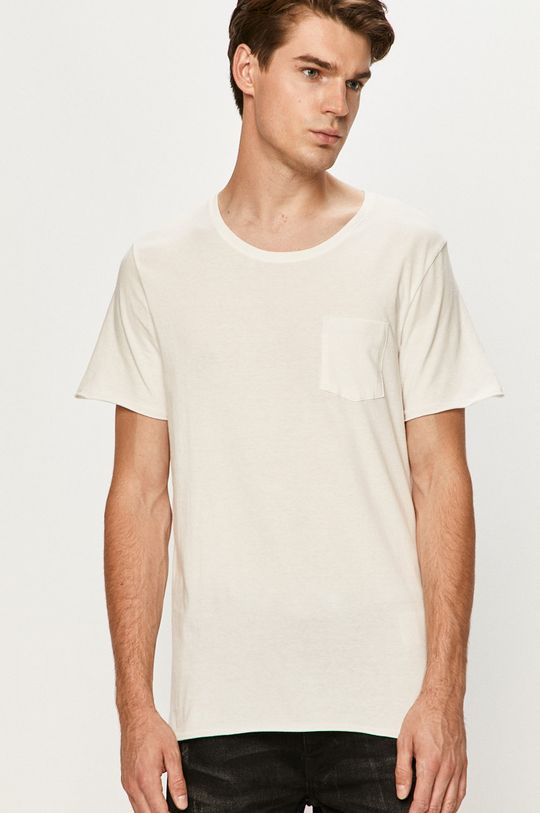 alb Jack & Jones - Tricou