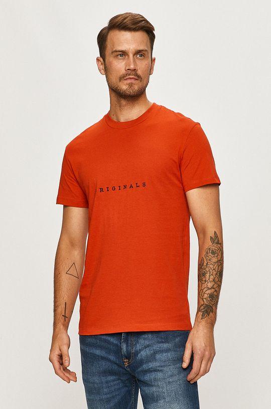miedziany Jack & Jones - T-shirt Męski