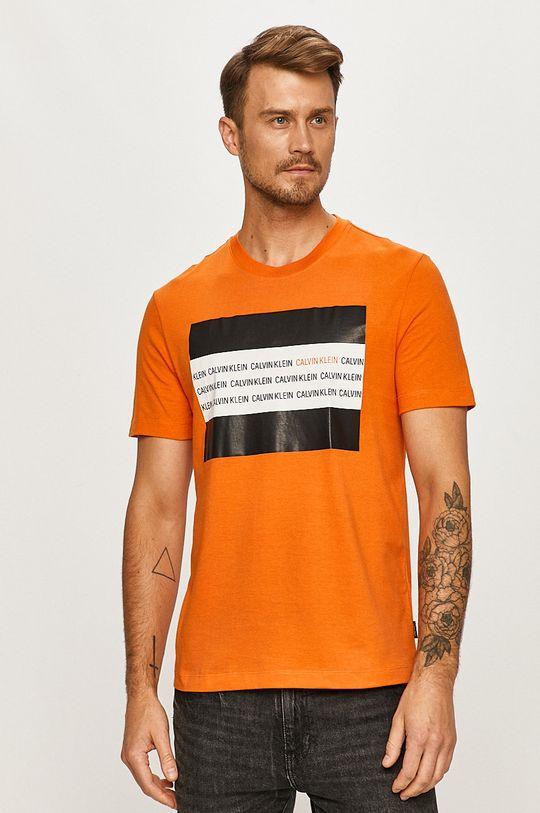 portocaliu Calvin Klein - Tricou De bărbați