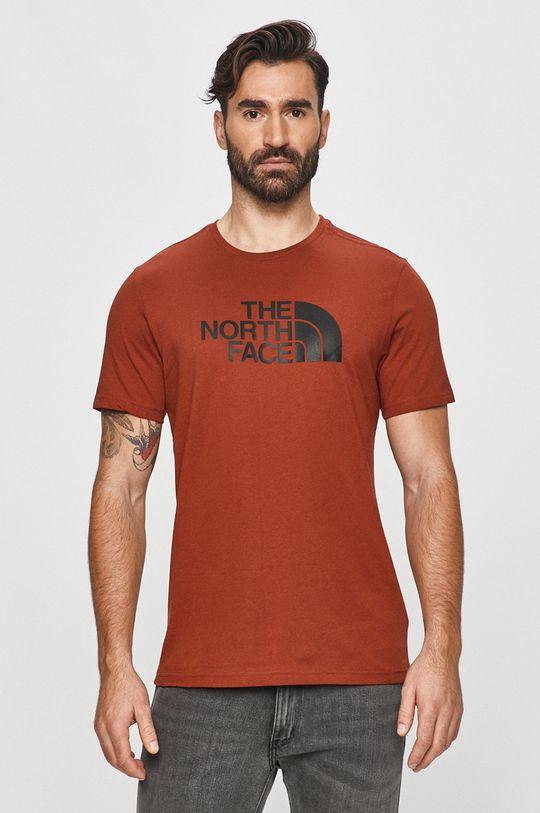 karmínová The North Face - Tričko Pánský