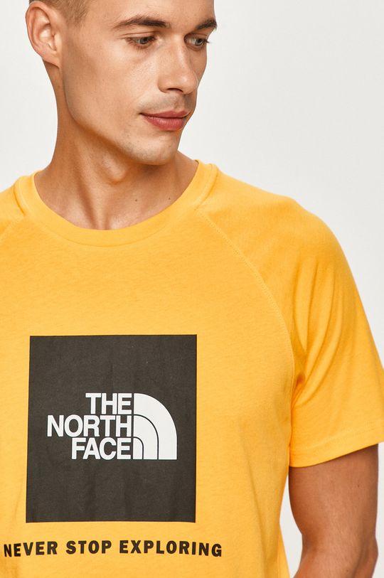oranžová The North Face - Tričko Pánsky