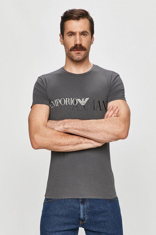 sivá Emporio Armani - Tričko Pánsky