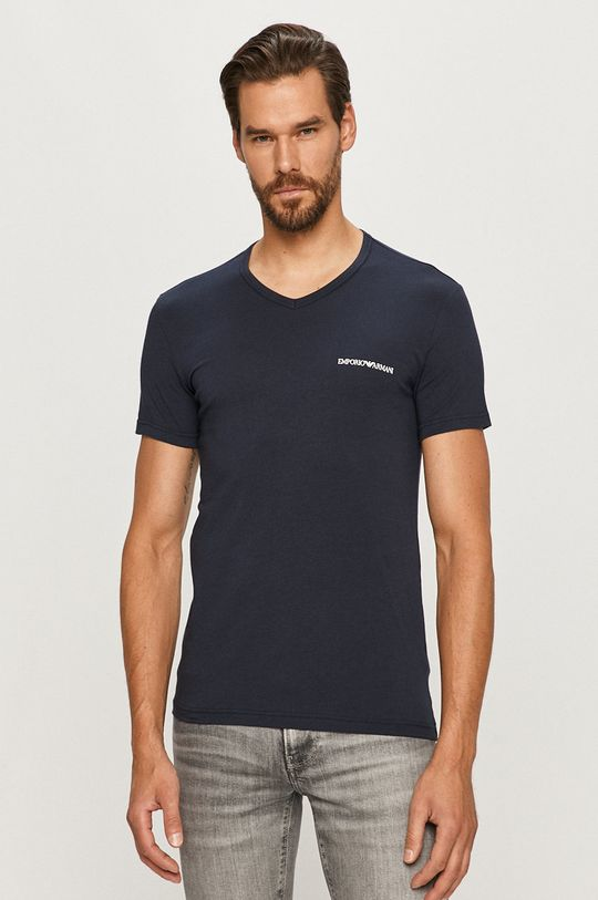 bleumarin Emporio Armani - Tricou (2-pack) De bărbați