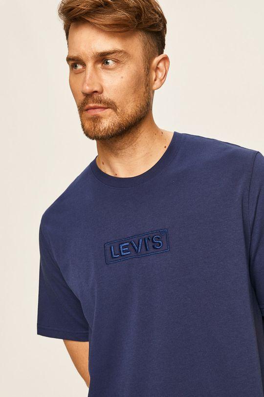 granatowy Levi's - T-shirt Męski