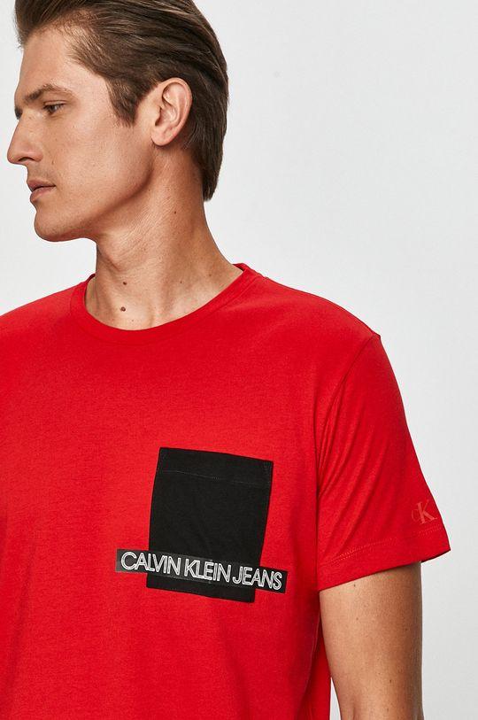 červená Calvin Klein Jeans - Tričko