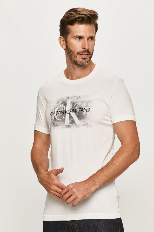 biela Calvin Klein Jeans - Tričko Pánsky