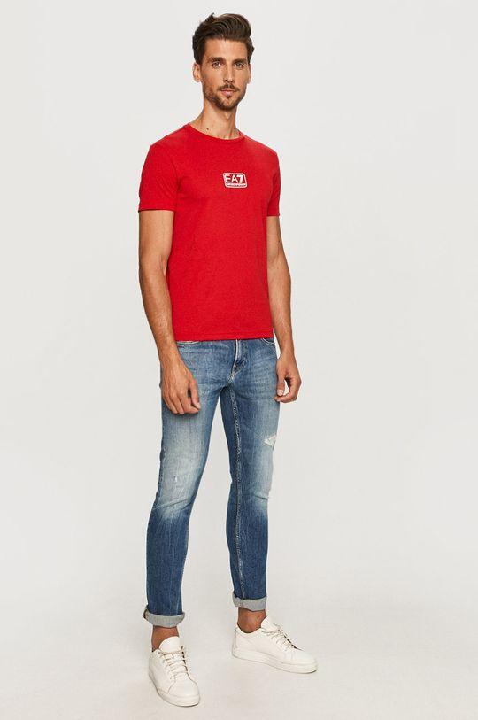 EA7 Emporio Armani - T-shirt czerwony