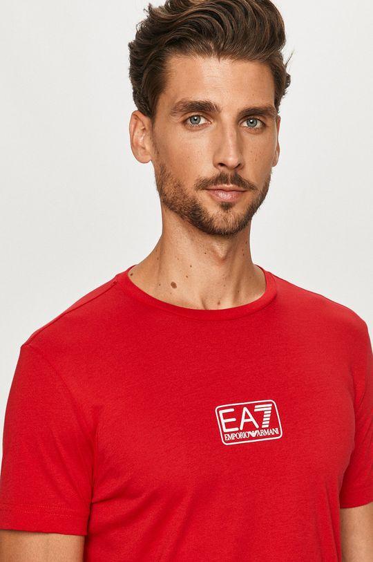 czerwony EA7 Emporio Armani - T-shirt