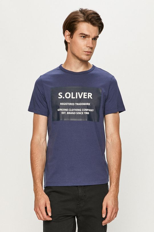 modrá s. Oliver - Tričko Pánský