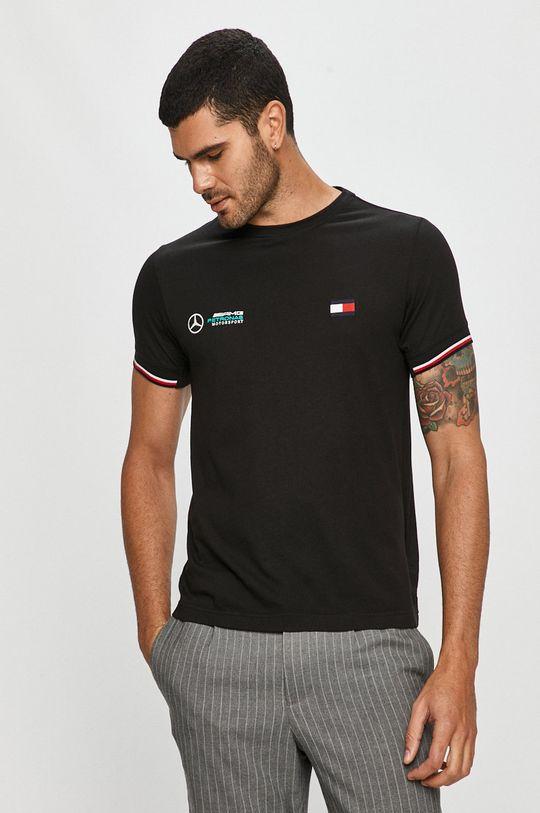 čierna Tommy Hilfiger Tailored - Tričko x Mercedes Pánsky
