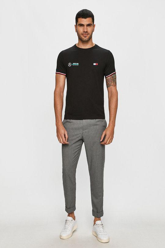 Tommy Hilfiger Tailored - Tričko x Mercedes čierna