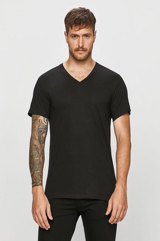 černá Calvin Klein Underwear - Tričko (3-pack) Pánský