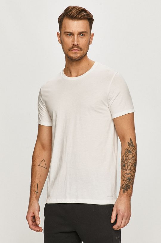 biela Calvin Klein Underwear - Tričko (3-pak) Pánsky