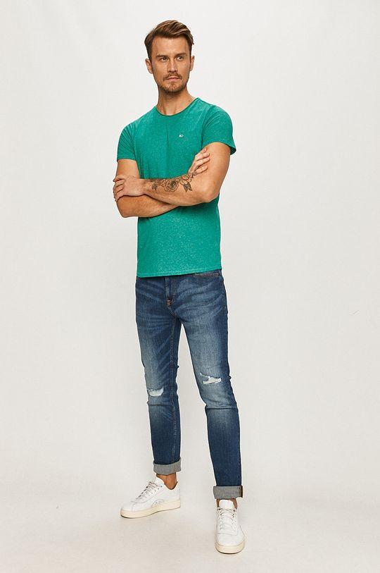 Tommy Jeans - Tricou turcoaz