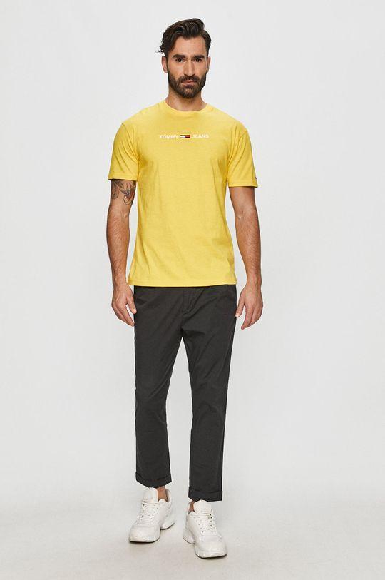 Tommy Jeans - Tricou galben