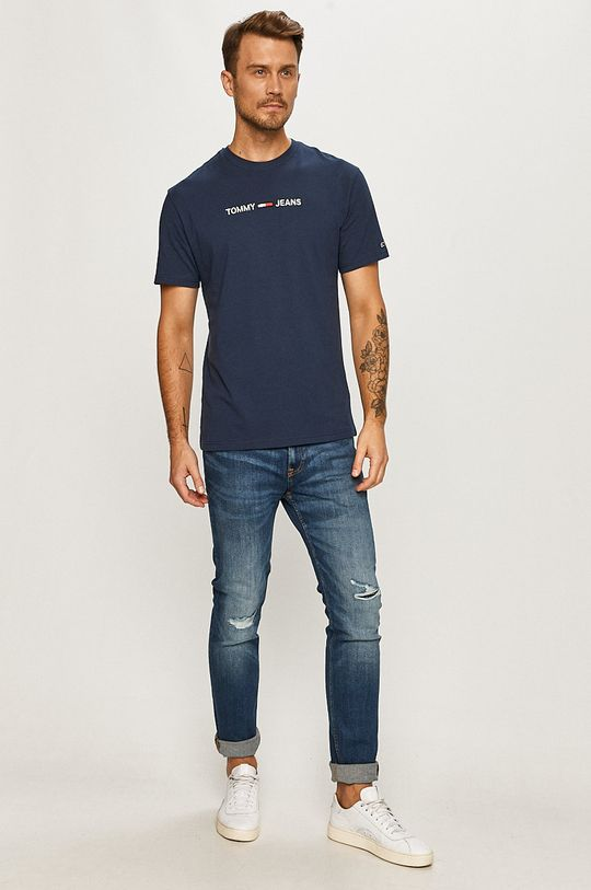 Tommy Jeans - Tricou bleumarin