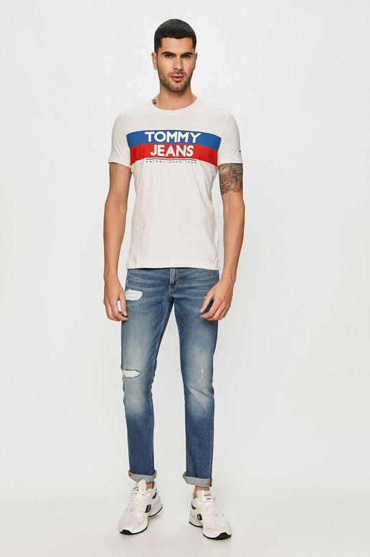 Tommy Jeans - T-shirt jasny szary