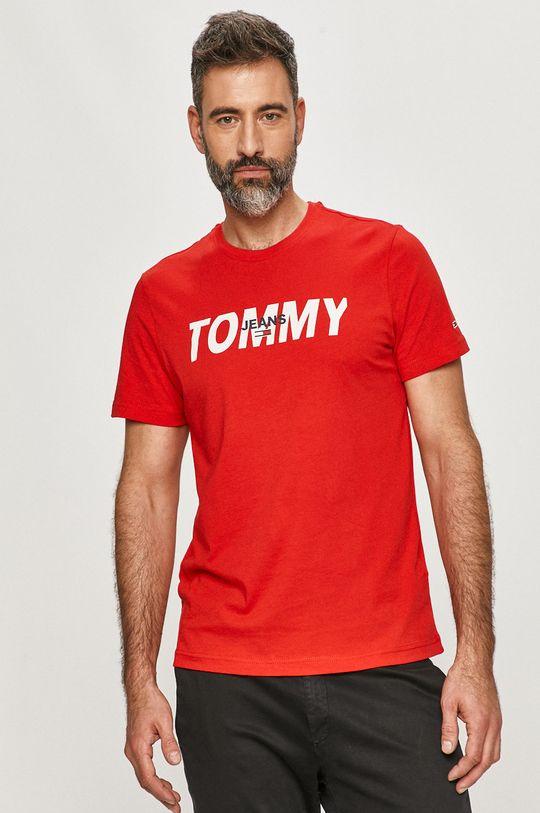czerwony Tommy Jeans - T-shirt